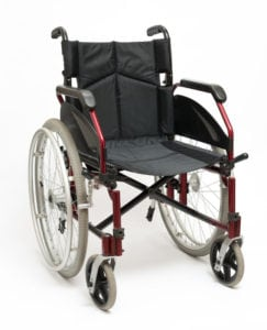 24551456 - wheelchair on a white background